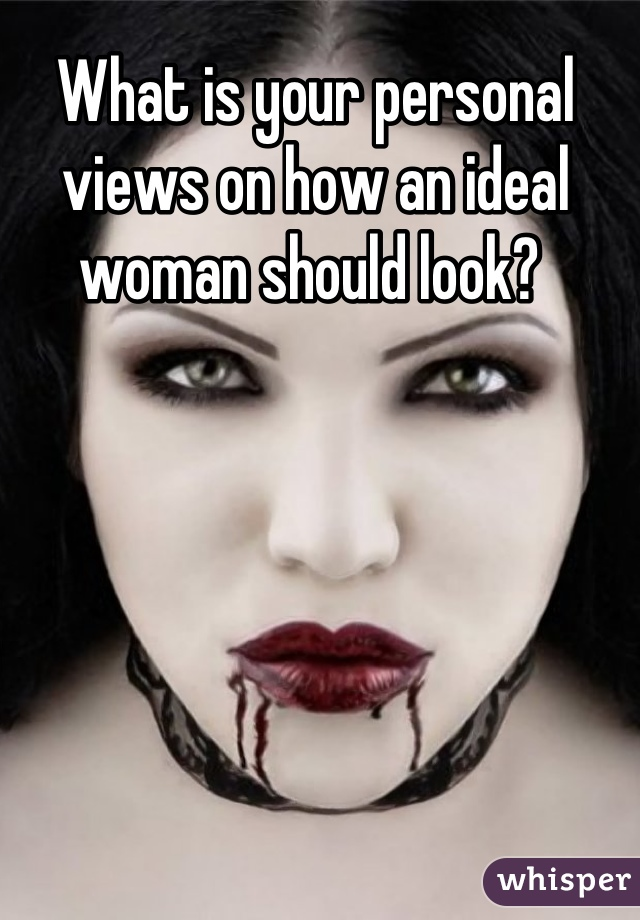 What is your personal views on how an ideal woman should look?