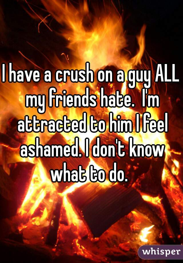 I have a crush on a guy ALL my friends hate.  I'm attracted to him I feel ashamed. I don't know what to do.