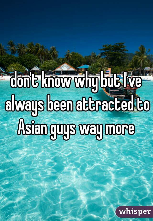 don't know why but I've always been attracted to Asian guys way more