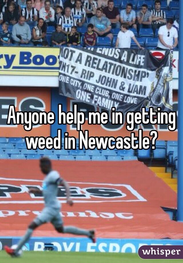 Anyone help me in getting weed in Newcastle?