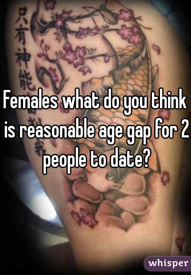 Females what do you think is reasonable age gap for 2 people to date?