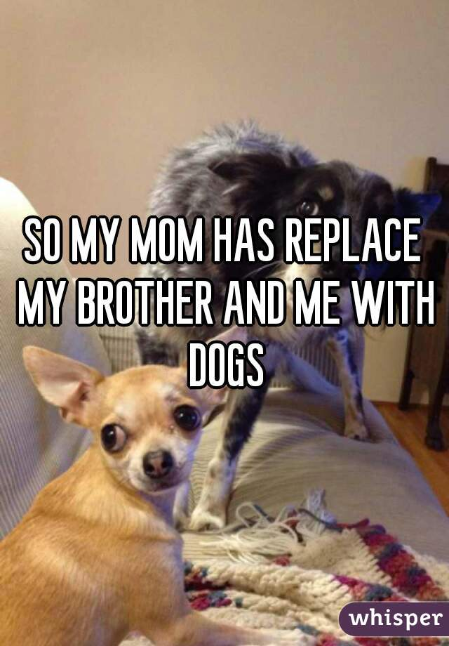 SO MY MOM HAS REPLACE MY BROTHER AND ME WITH DOGS