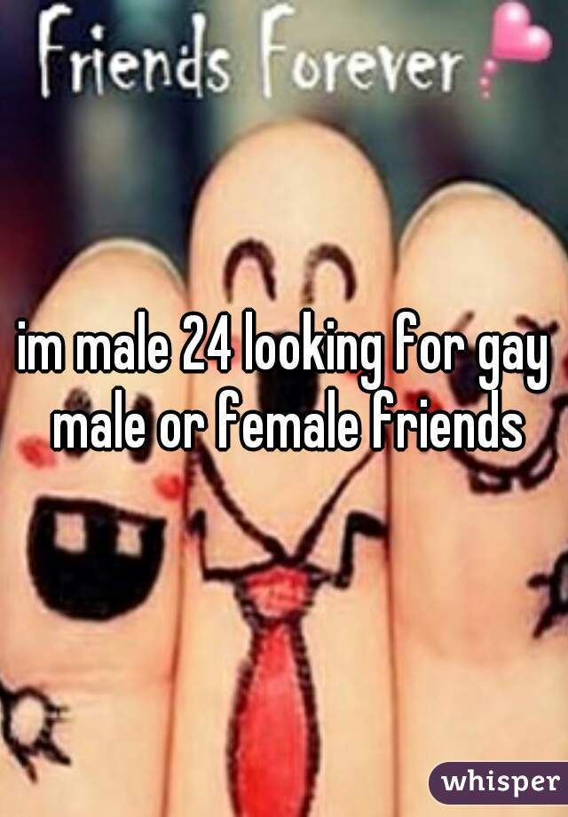 im male 24 looking for gay male or female friends