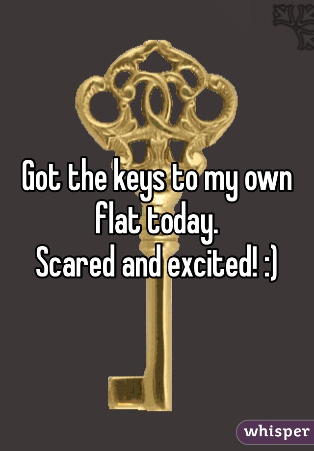 Got the keys to my own flat today. Scared and excited! :)