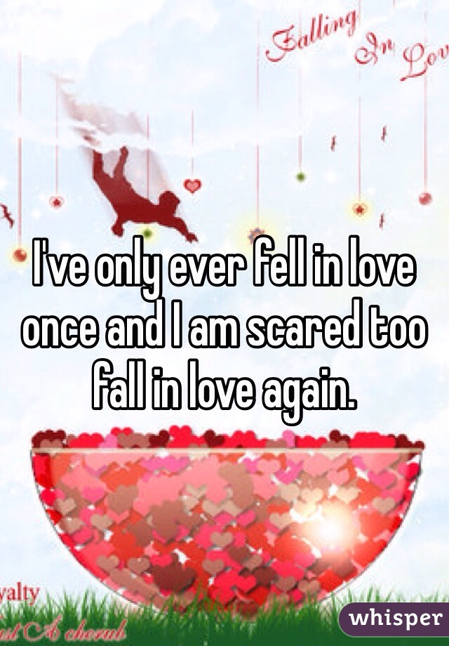I've only ever fell in love once and I am scared too fall in love again.