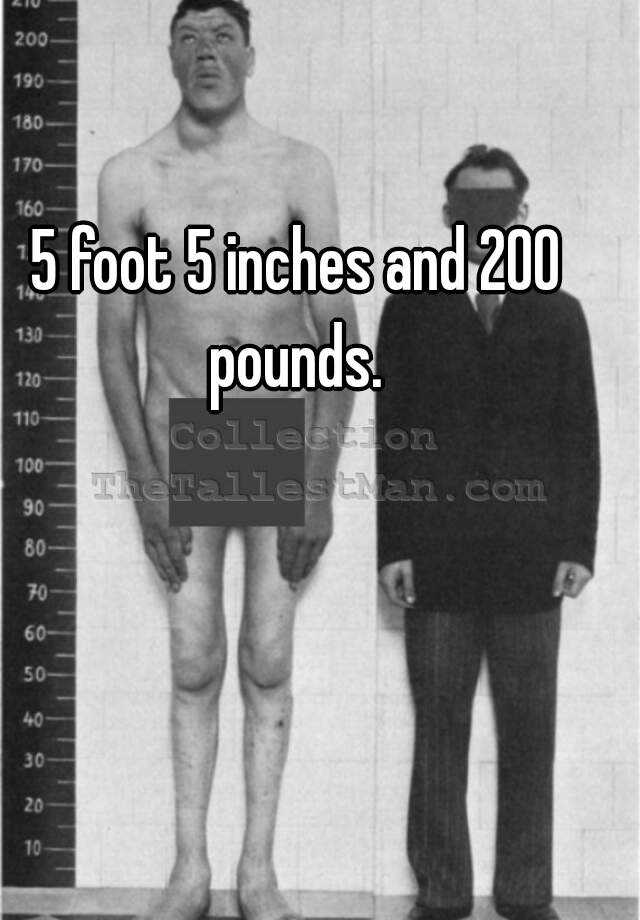 5 foot 5 inches and 200 pounds