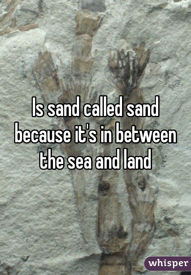 Is sand called sand because it's in between the sea and land