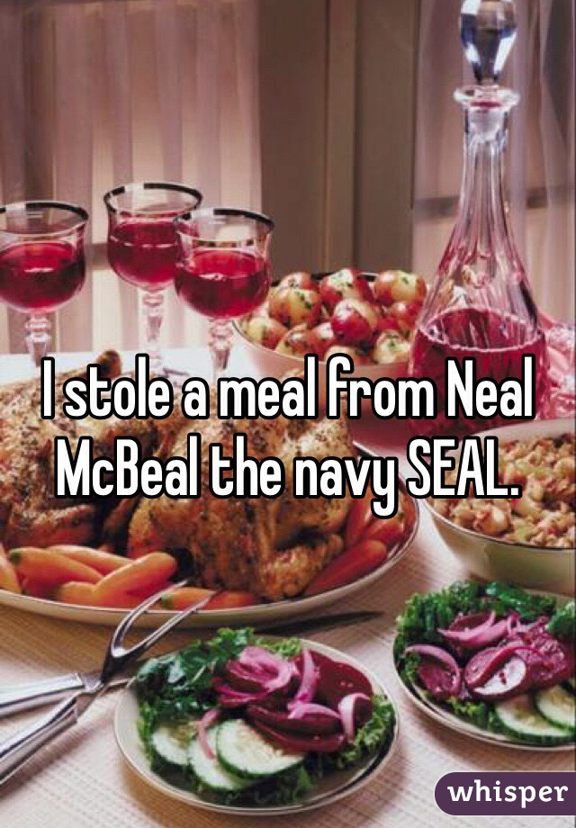 i stole a meal from neal mcbeal the navy seal