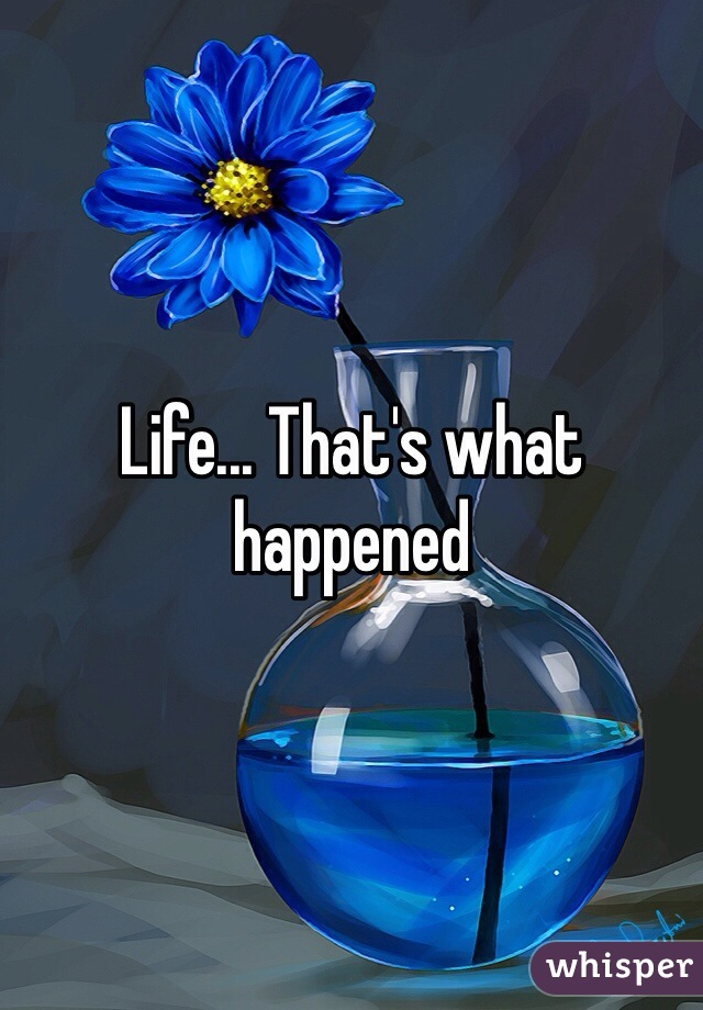 Life... That's what happened