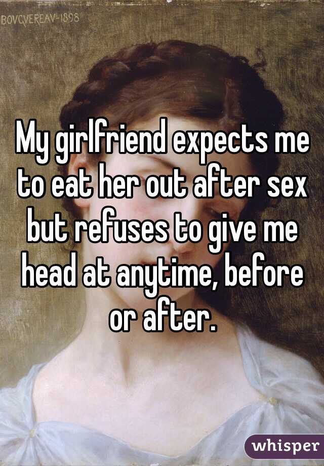 Eat my wife after sex