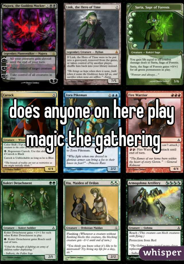 does anyone on here play magic the gathering