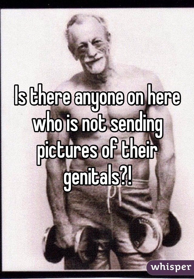 Is there anyone on here who is not sending pictures of their genitals?!