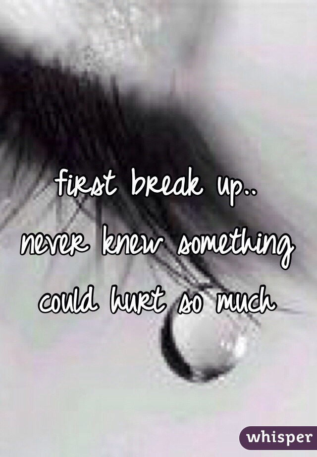 first break up.. never knew something could hurt so much