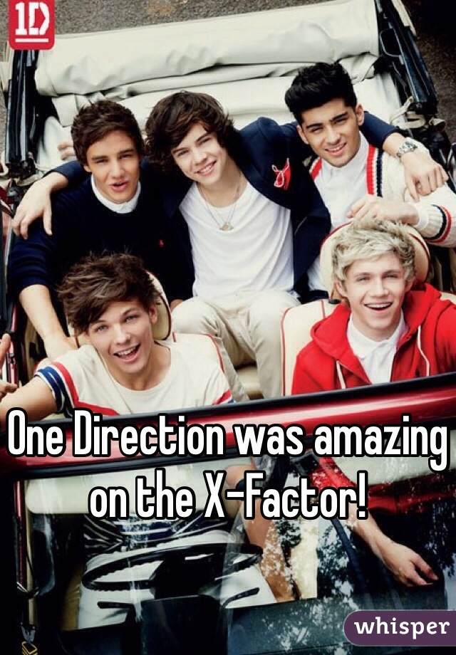 One Direction was amazing on the X-Factor!