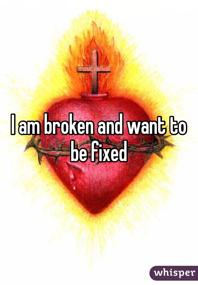 I am broken and want to be fixed