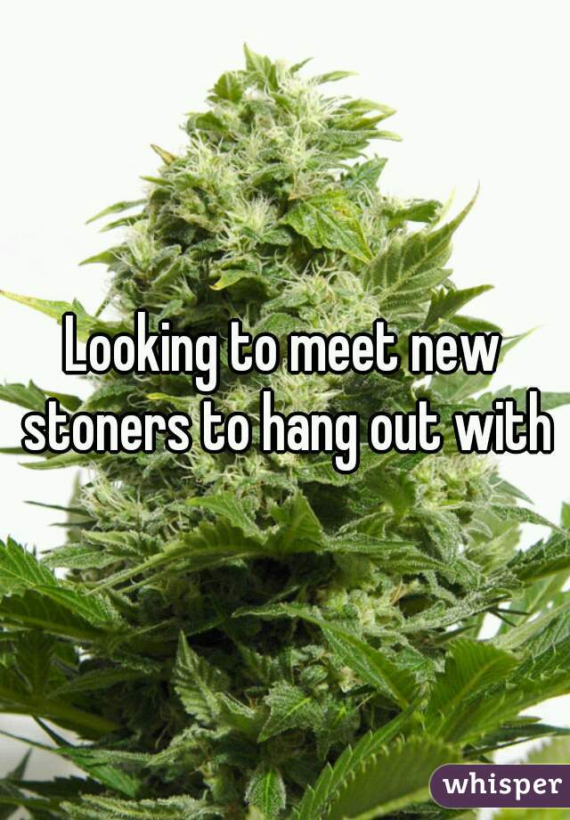 Looking to meet new stoners to hang out with