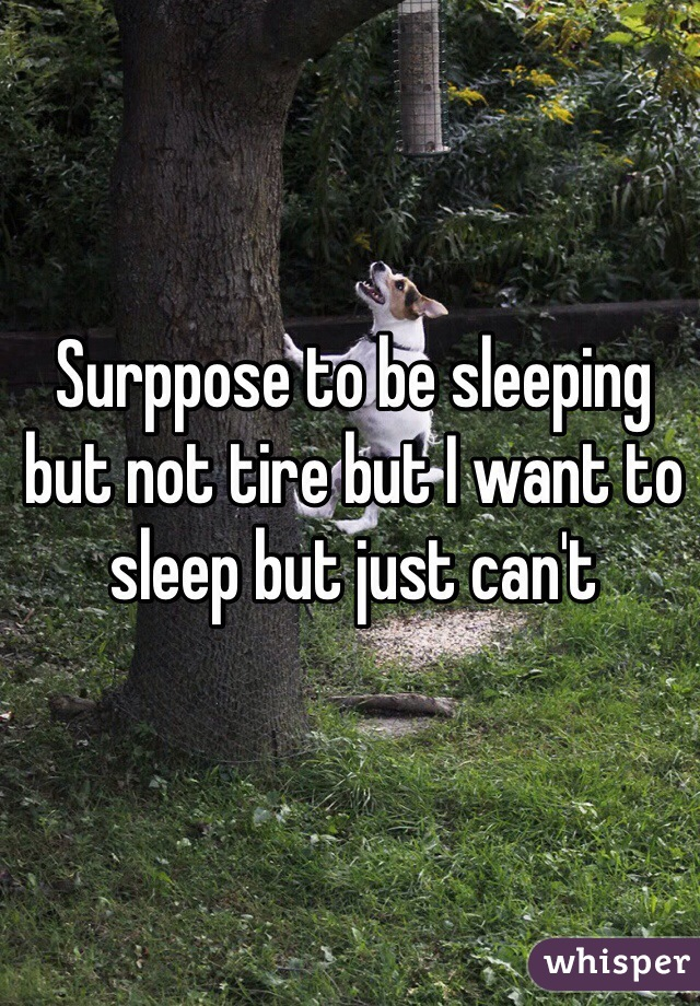Surppose to be sleeping but not tire but I want to sleep but just can't