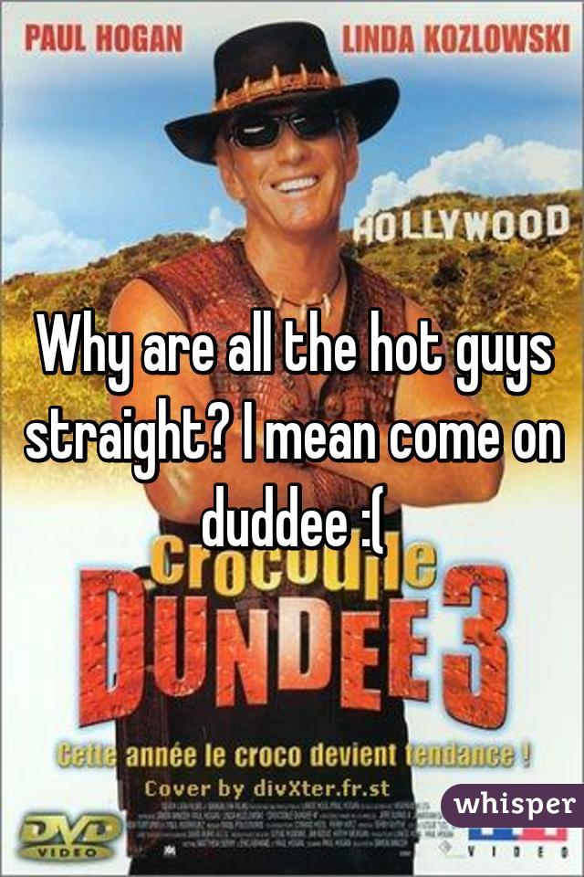 Why are all the hot guys straight? I mean come on duddee :(