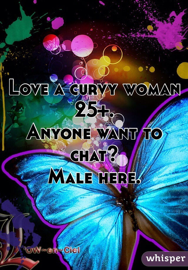 Love a curvy woman 25+. Anyone want to chat? Male here.