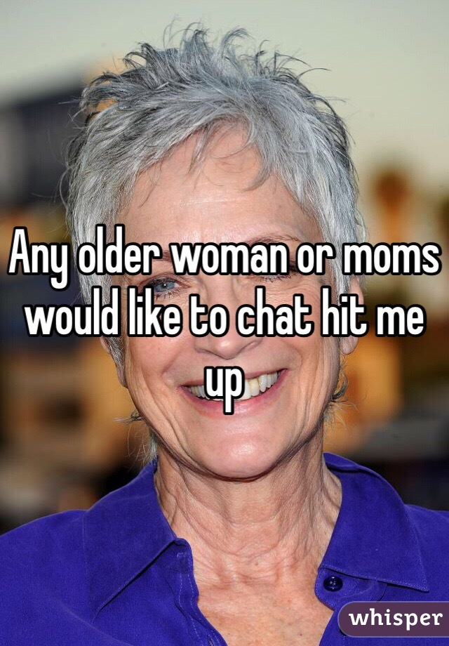 how to chat up an older woman
