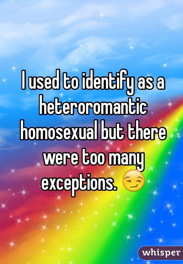 Heteroromantic but homosexual relationships