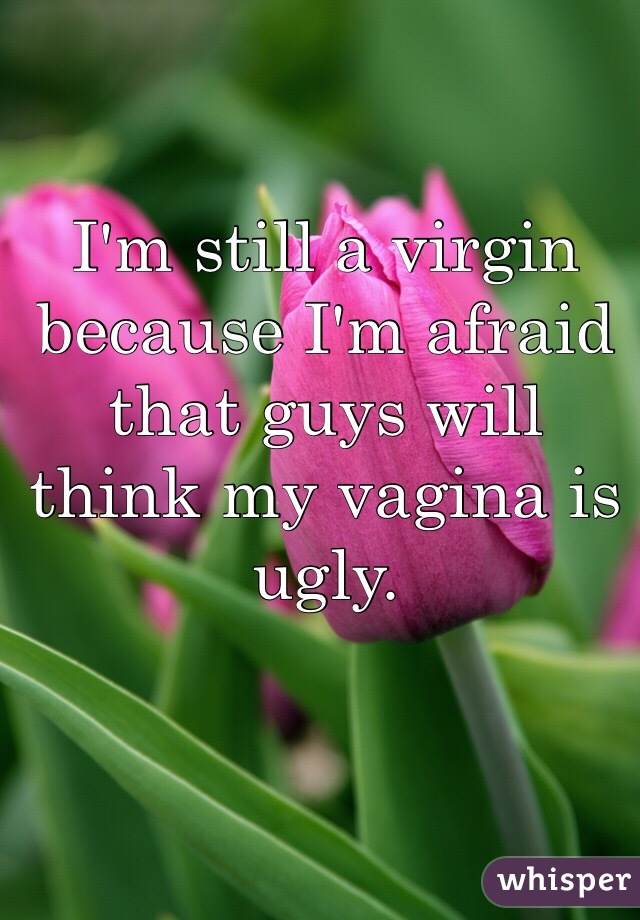 I'm still a virgin because I'm afraid that guys will think my vagina is ugly.