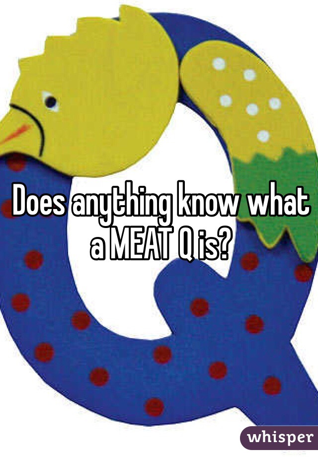 Does anything know what a MEAT Q is?