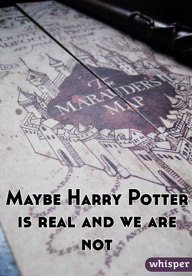 Maybe Harry Potter is real and we are not