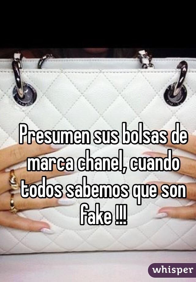 Presumen sus bolsas de marca chanel, cuando todos sabemos que son fake !!!