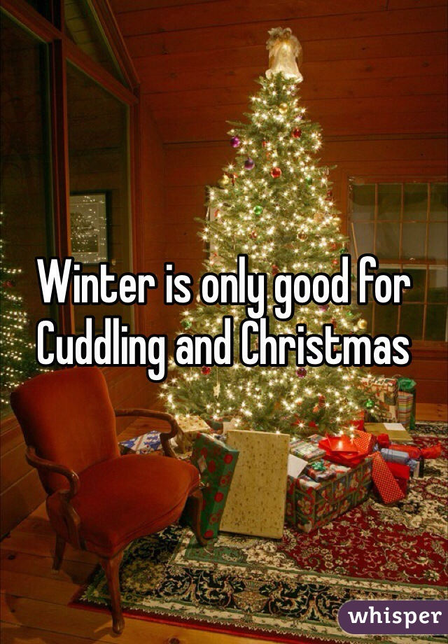 Winter is only good for Cuddling and Christmas