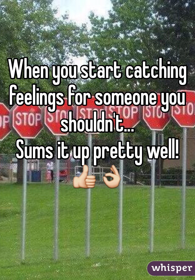 When You Start Catching Feelings For Someone You Shouldnt Sums