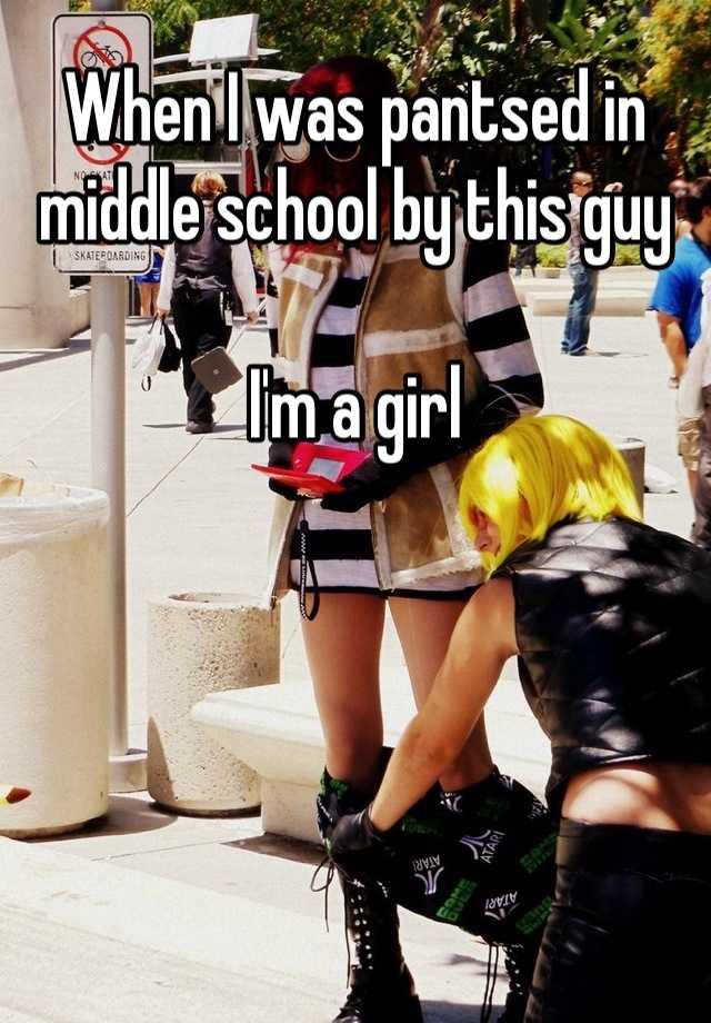 girl pantsed