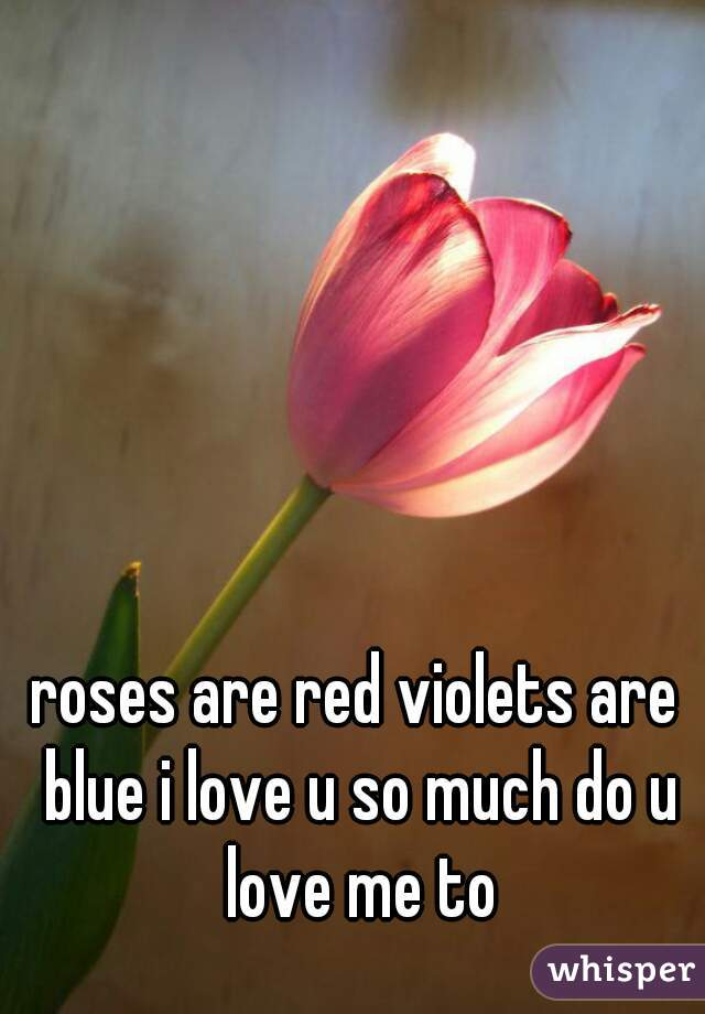 roses are red violets are blue i love u so much do u love me to