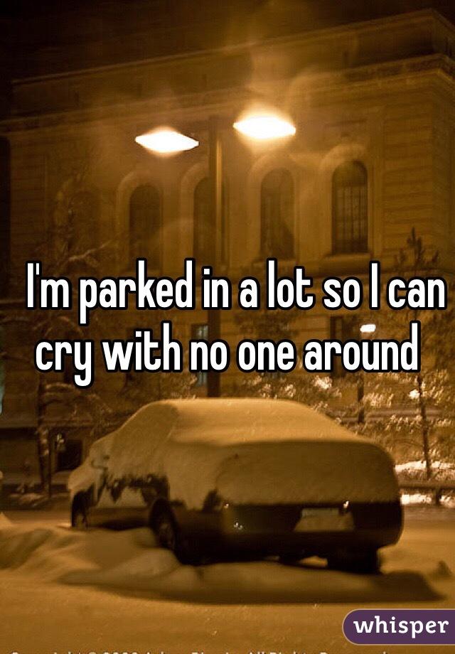 I'm parked in a lot so I can cry with no one around