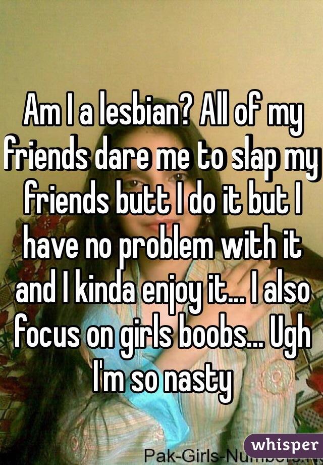 Lesbian butt slap