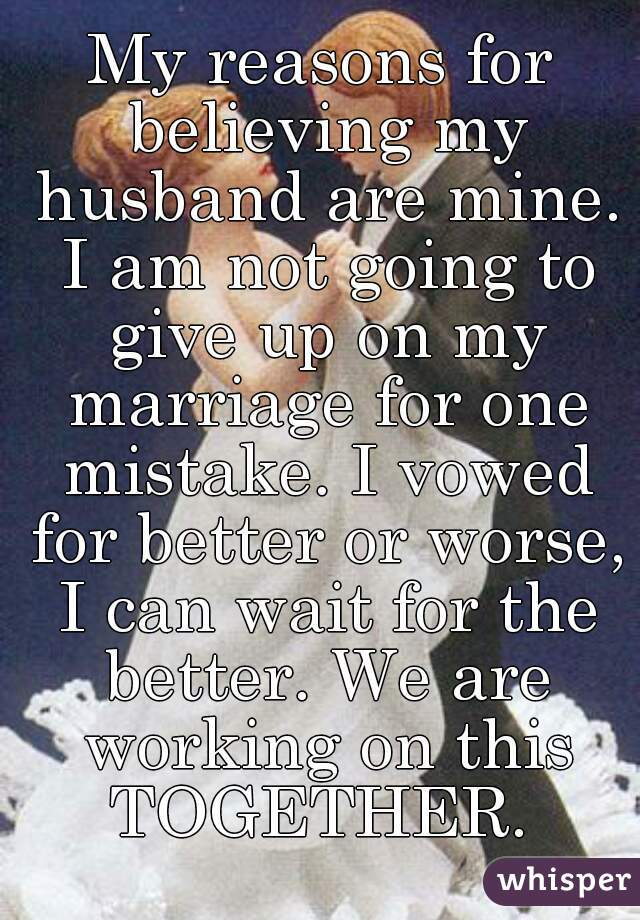 Marriage Not Giving Up