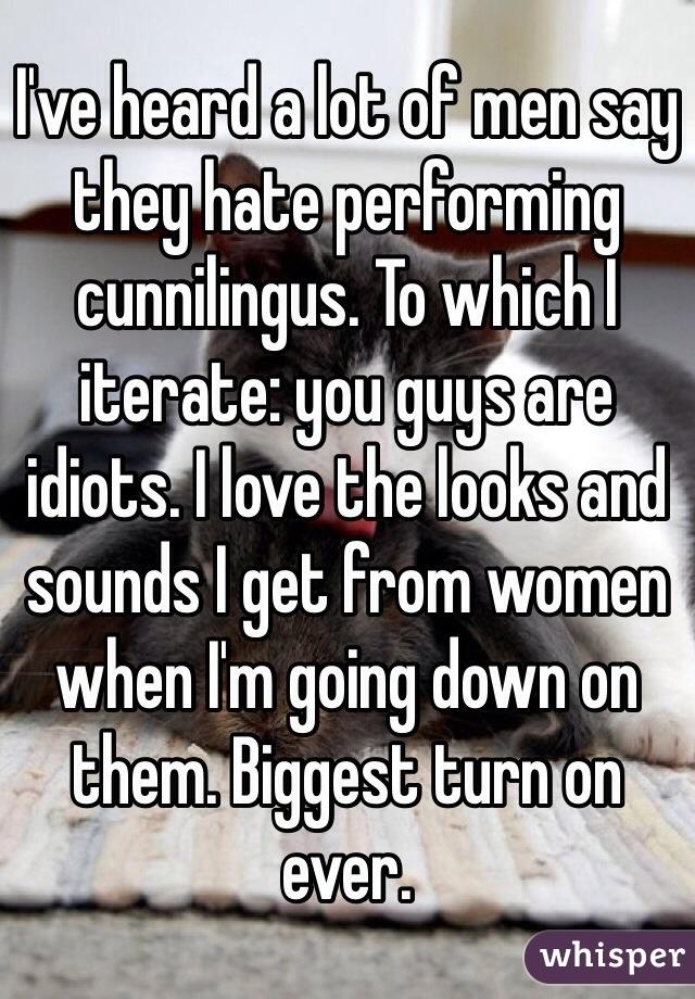 Why do men hate cunnilingus