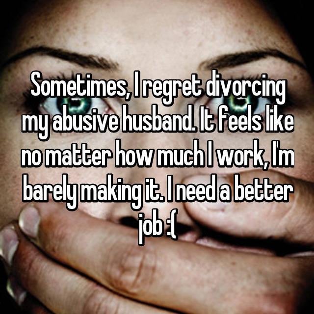 Do ex husbands ever regret divorce