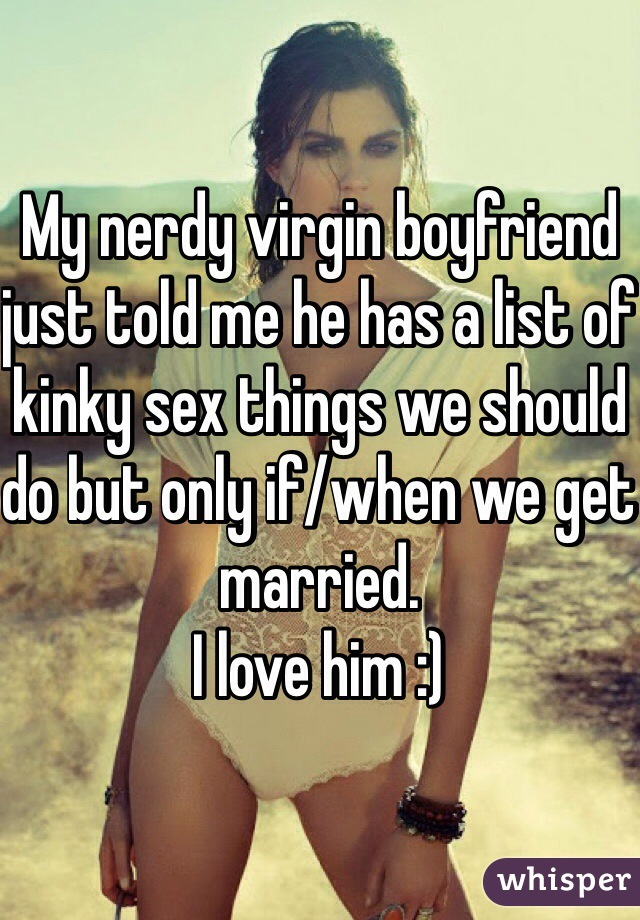 what to do with a virgin boyfriend