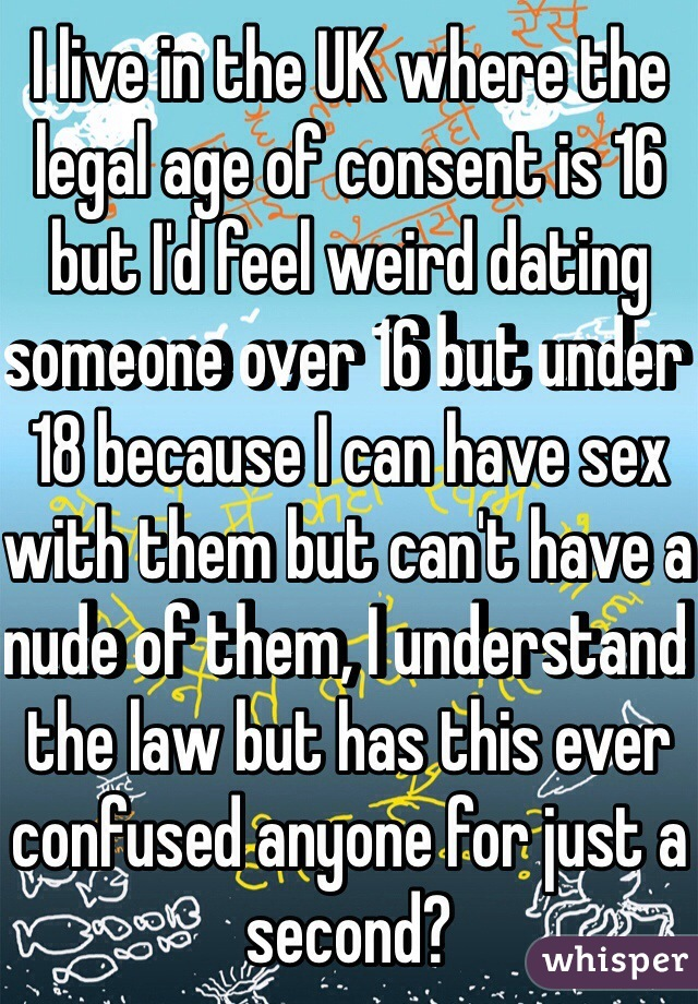 Law against dating someone under 18