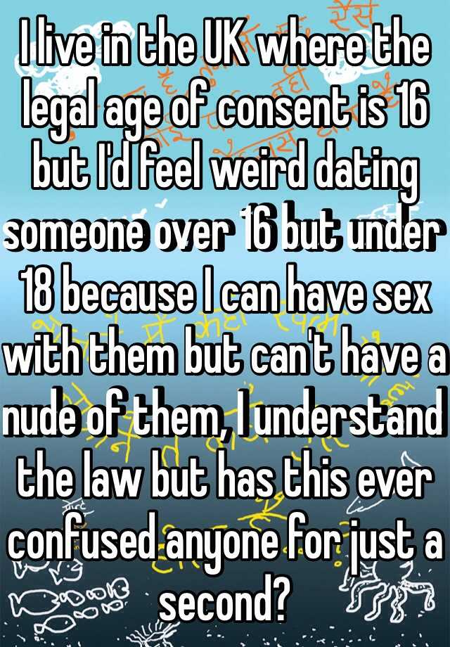 the law on dating ages uk