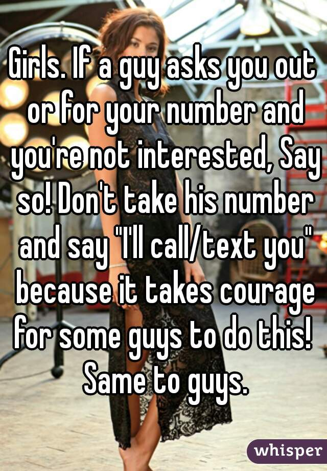 When A Guy Asks As regards Your Number