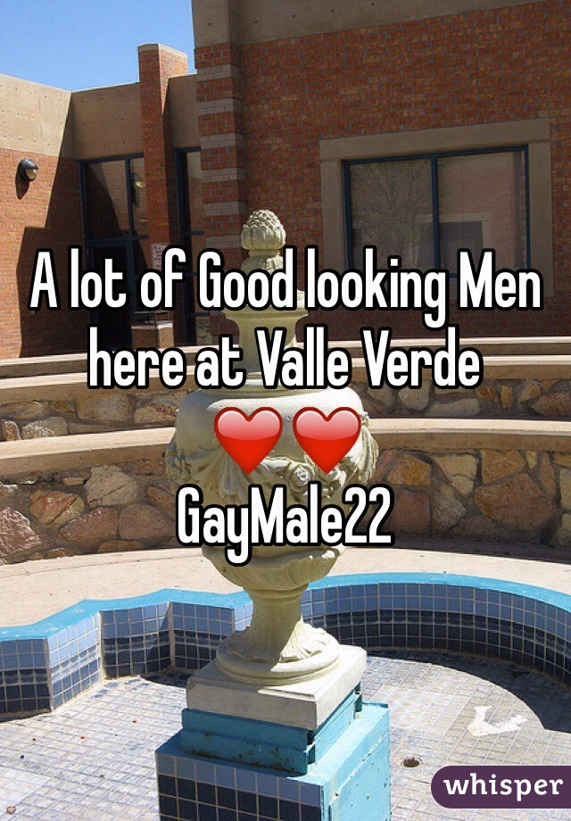 A lot of Good looking Men here at Valle Verde  ❤️❤️ GayMale22