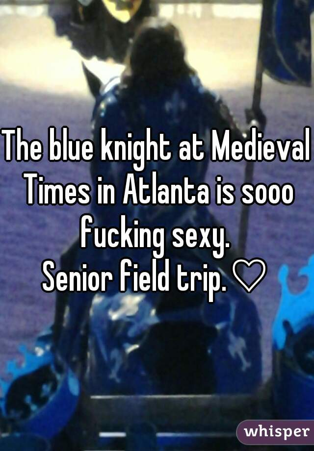 The blue knight at Medieval Times in Atlanta is sooo fucking sexy.   Senior field trip.♡