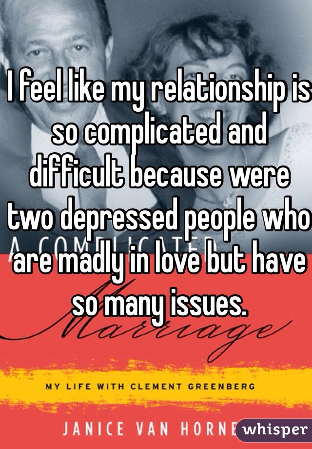 Two depressed people in a relationship
