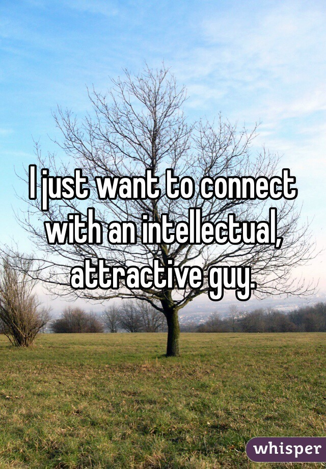 I just want to connect with an intellectual, attractive guy.