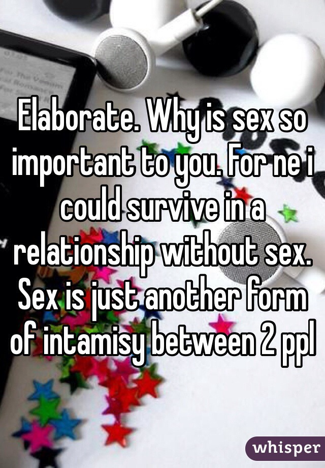 So sex in a why relationship is important TO WIVES: