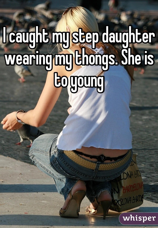 Caught wearing a thong