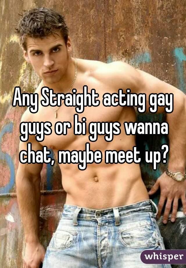 Guys acting gay