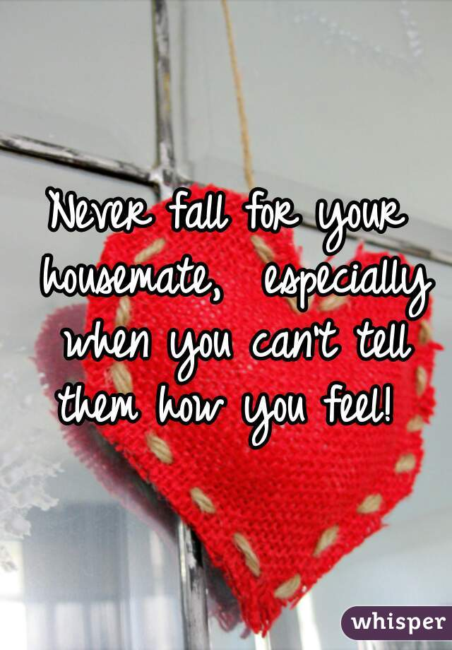 Never fall for your housemate,  especially when you can't tell them how you feel!